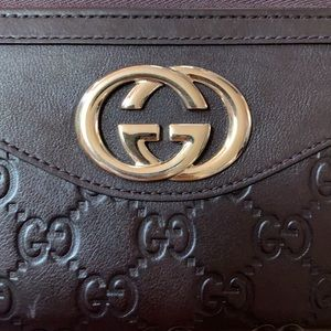 Guccissima Sukey Zip All Leather Wallet